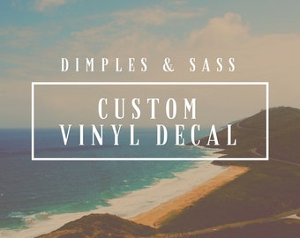Custom Wall Decals Etsy - Custom vinyl wall decals