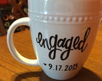 Engagement Date Mug