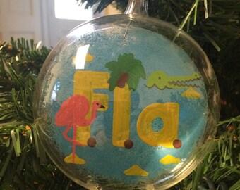Handpainted Florida Ornament
