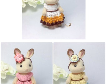 Calico Critters/ Sylvanian Families Crochet Clothes/ Outfit for Mother Made to Order #2002