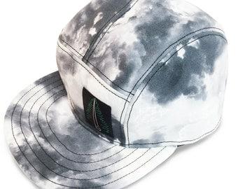 5 Panel Snap Back Hat - Storm Clouds