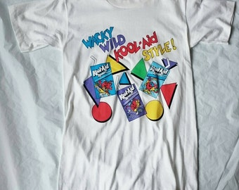 1980's Wacky Wild Kool-Aid Style! White T-shirt, Kooler Juice Drink