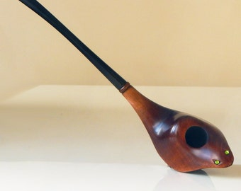 SNAKE Long Tobacco Smoking Pipe Hand carved pipes Tobacco pipe Author's carved pipe pipes Wooden smoking pipes Gift for men