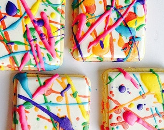 Paint Splattered Cookies