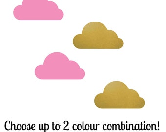Cloud x 2 Colour | Pattern Animals Kids Nursery | Removable Wall Decal Sticker | MS156VC