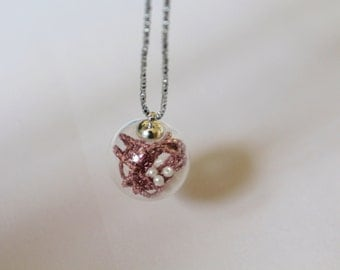 Pink, Pearl Globe Necklace