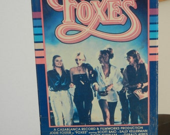 Foxes 1980 Film starring Jodie Foster Cherie Currie Scott Baio Used VHS