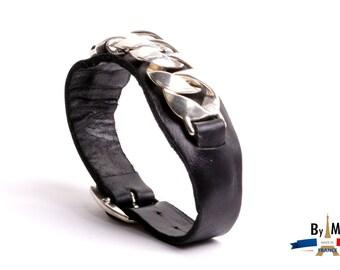 Soft leather bracelet metal bracelet plated fashion brand by France.