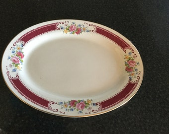 "HOMER LAUGHLIN Lady Alice Pattern 13 "" Oval Platter"