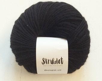 STRIKDET Organic Wool Black / Økologisk Uld - Sort