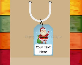 Christmas Gift Tags, Holiday Gifts, Editable, Festive, Gifts, Printables, Santa, Snowman, Penguin, PDF Editable, Instant Download - TFD318