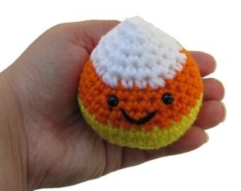 Little Amigurumi Candy Corn, crochet candy corn, Halloween toy, Candy Corn Plush