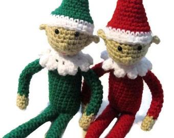Crochet Elf, amigurumi elf, holiday elf