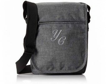Trendy Element Tablet Bag With Monogram - Charcoal