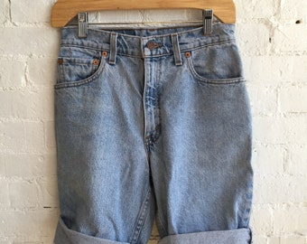 vintage levi strauss 505 shorts cut offs worn in and cozy made in usa