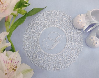 Machine Embroidery Design - Round floral frame - 3 sizes