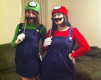 Super Mario Bros - Mario /  Luigi Crocheted Hat / Beanie / Kawaii