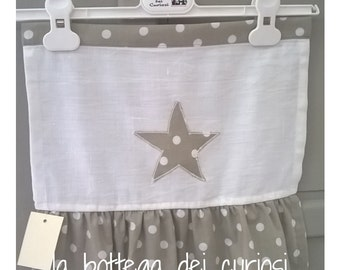 Curtains with star polka dots