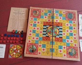 Antique, McLoughlin Bros., Messenger Boy Board Game, circa 1905