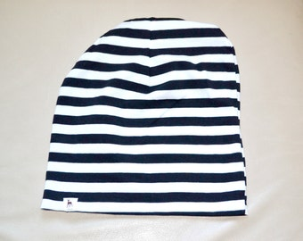 Everton Mint striped jersey slouch beanie