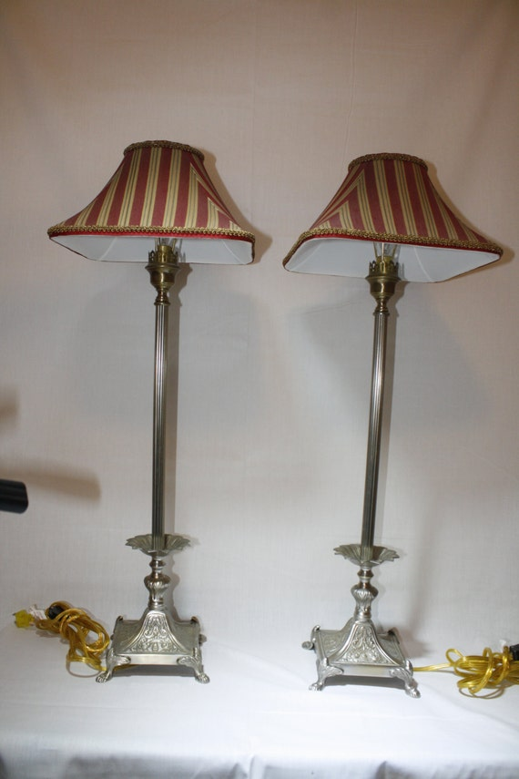Set Of 2 Vintage Frederick Cooper Twyla Candlestick Table