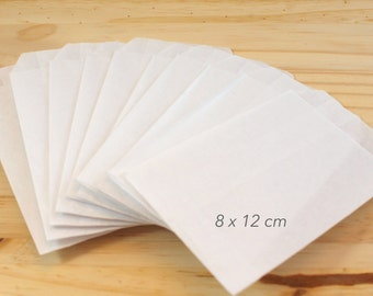 Set of 50 8 kraft gift bags x 12 cm, wrapping gifts, kraft envelope package