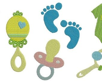 Baby Accessories Set - Digital Embroidery Designs