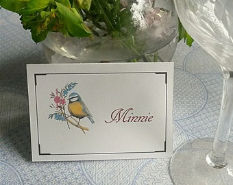 Peronalised name cards. choose how many and which design. customised place cards. wedding. personalised gift