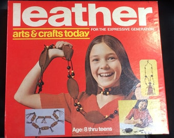 Vintage Arts & Crafts Today 1972 leather kit by Hasbro.