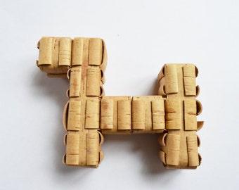 ECO Baby Rattle Hand Made Birch Bark Russian Traditional Toy Sharkunok - Doggy