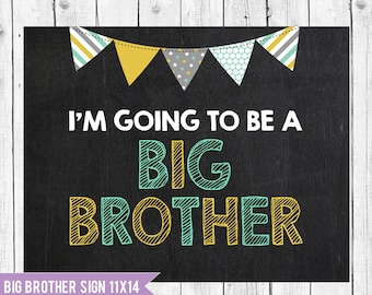 Big brother announcement sign // Im going to be a big brother chalkboard // pregnancy announcement // Big Brother Photo Prop