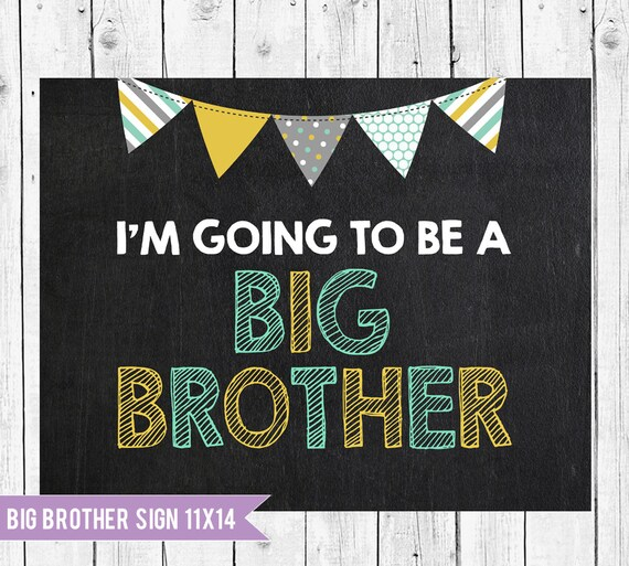 Big Brother Announcement Sign // Im Going To Be A Big Brother