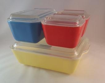 Pyrex Refrigerator Dish Set - Primary Colors