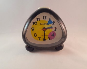 SALE - Retro Talking Clock by Ultmost - Battery Operated