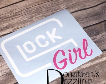 Glock Girl Decal | Glock | Keep Calm and Carry | Concealed Carry |
