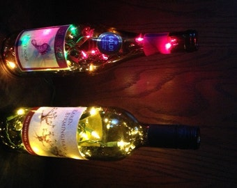 14.95 Assorted Lighted Wine And Liquor Bottles