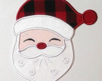 Santa Applique Design /Christmas Applique Design/Santa Claus/PES Format/4x4 ,5x7, 6x10 Hoop /INSTANT DOWNLOAD/Machine Embroidery Design