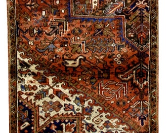 Items Similar To Vintage Rug 54 X 30 Persian Look On Etsy
