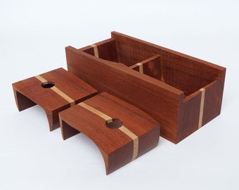 Cherry wood box with maple accent
