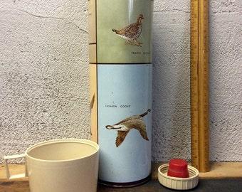 Vintage bird hunting thermos