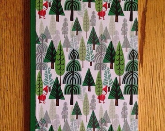 Beautiful notebook - forest nature illustration - A5 size