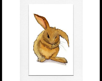 Brown Rabbit : A5 Print
