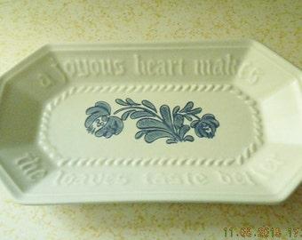 Yorktowne Pfaltzgraff Bread Platter, Vintage Bread Tray, Pfaltzgraff Replacement Item, Enscribed Vintage Kitchen Platter, Vintage Dish