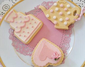 Fake biscuits, set of 3, cakestand decor