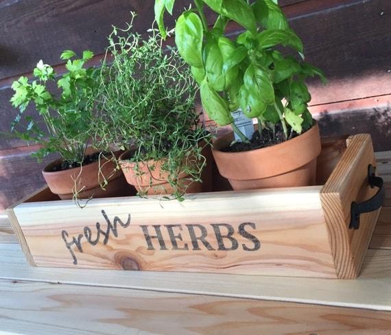 Kitchen Garden Box With Wire Top: Cedar Herb Planter Box Wooden Planter Box Rustic Kitchen
