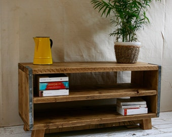 rustic industrial scaffold board tv unit. Black Bedroom Furniture Sets. Home Design Ideas