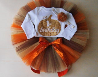 Fall First Birthday Outfit, Pumpkin First Birthday, 1st Birthday Outfit, Little Pumpkin, ONE