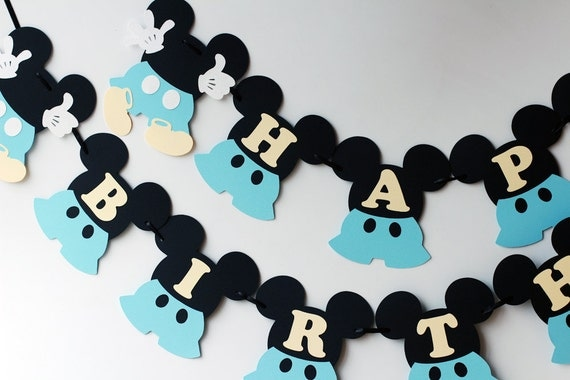 First birthday Mickey Mouse decorations Baby Mickey Mouse