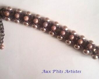 Bracelet Swarovski pearl beads in Pomerania