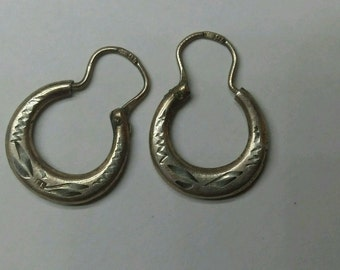 ELEGANT silver earrings 84 antiques